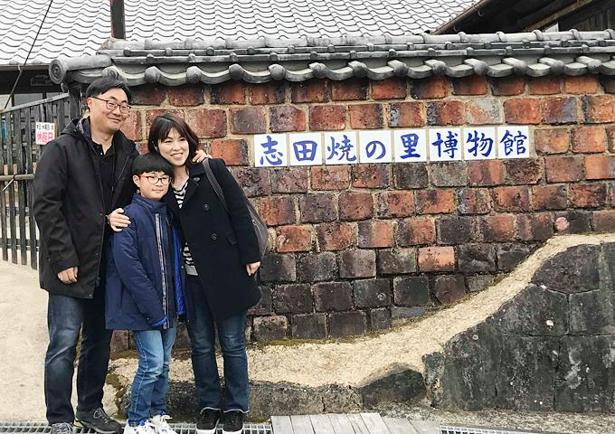韓国モニターツアー 3班 1日目、2月27日 志田焼き絵付け体験